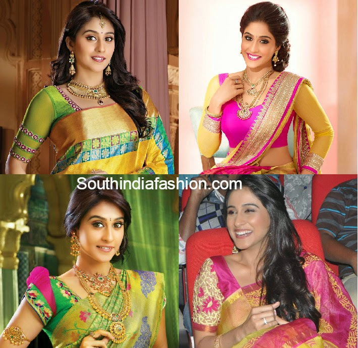 regina in pattu sarees