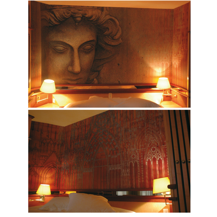 Intervention dans l'ensemble des chambres de l'hôtel Cathédrale à Strasbourg
