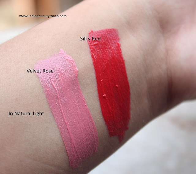 Essence Cosmetics, Lips, Lipstick, Essence Matte Effect XXXL Long Lasting Lipgloss Review and Swatches, Lipstick swatches, Cheap Matte Lipsticks, affordable Lispticks in India, Essence Cosmetics India, Indian beauty blog, beauty tips, Affordable Lipgloss in India, Matte lipstick in India, cheap matte lipstcik in India, Essence lipgloss in Velvet rose, Essence matte effect lipgloss in silky rose