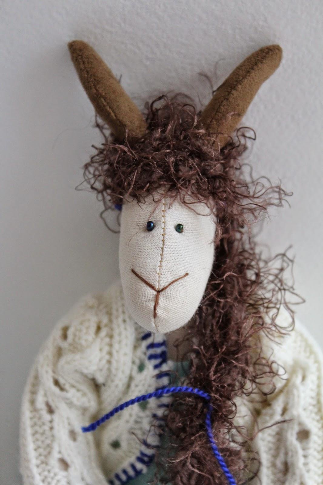 коза-дереза, козочка, интерьерная, игрушка