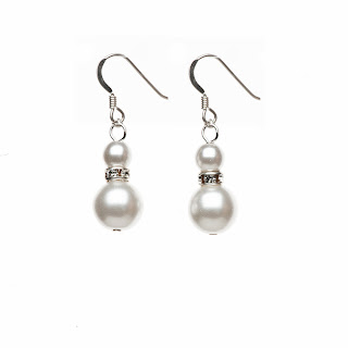 pearl drop earrings, pear jewelry, elisha francis london, bridal earrings, bridal jewery