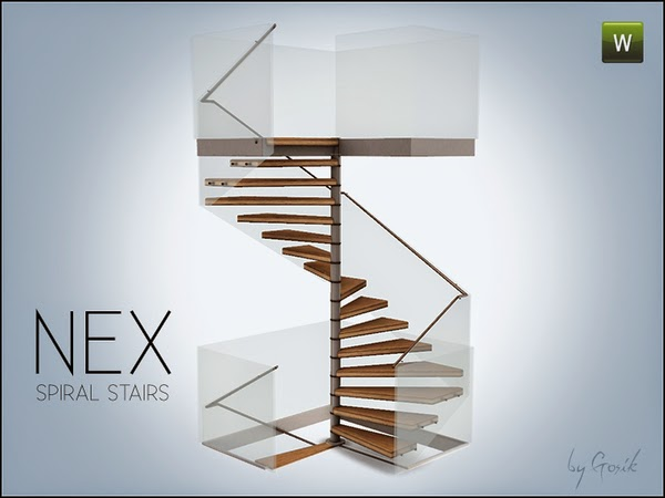 My sims 3 blog gosik 39 s nex square spiral stairs for Square spiral staircase plans hall