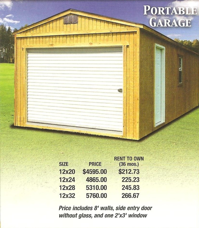 Derksen cabins prices joy studio design gallery best for Cost to build your own garage