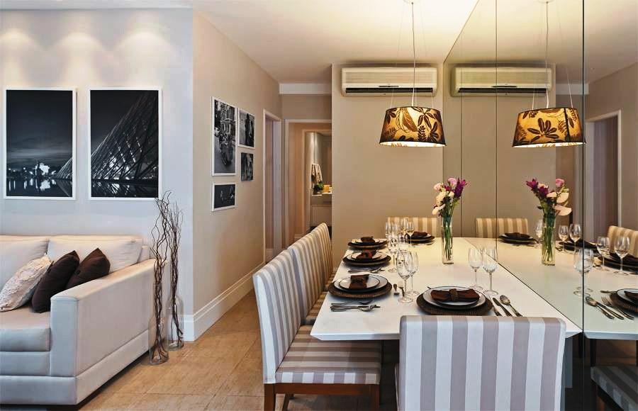 Espelhos Para Sala De Jantar Fotos ~  visualmente o tamanho da sala de janta r Foto costaflorescombr