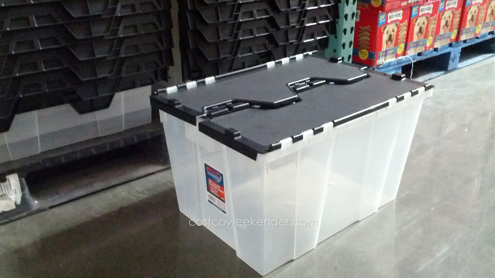 Incredible Solutions 12 Gallon Fliptop Crate provides storage for your household things & Incredible Solutions 12 Gallon Fliptop Crate | Costco Weekender