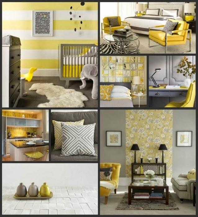 Amarillo gris y blanco decoraci n - Decoracion en amarillo ...