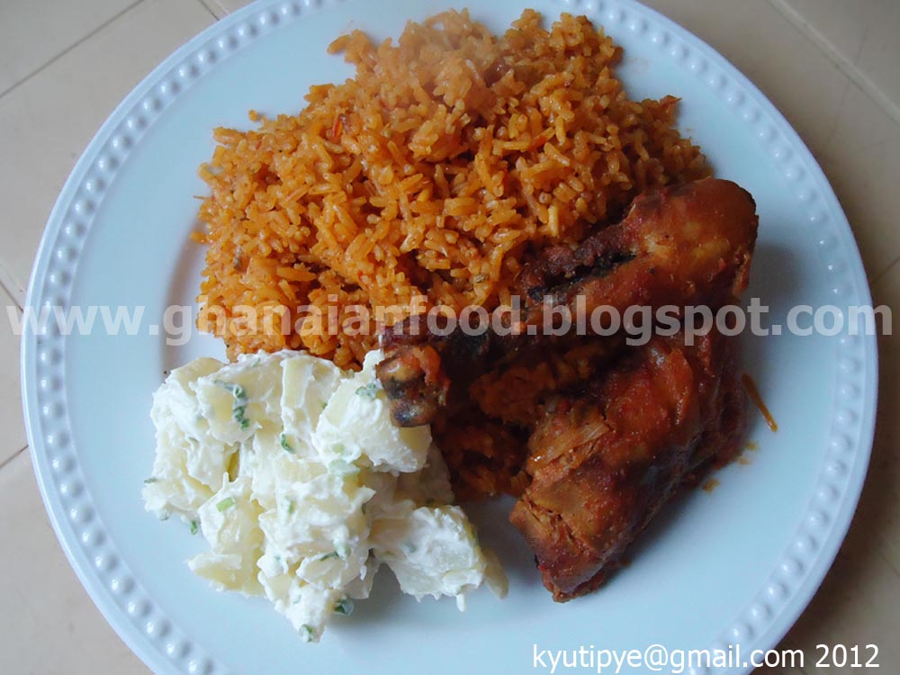 Ghanaian food jollof rice with chicken jollof rice with chicken ccuart Gallery