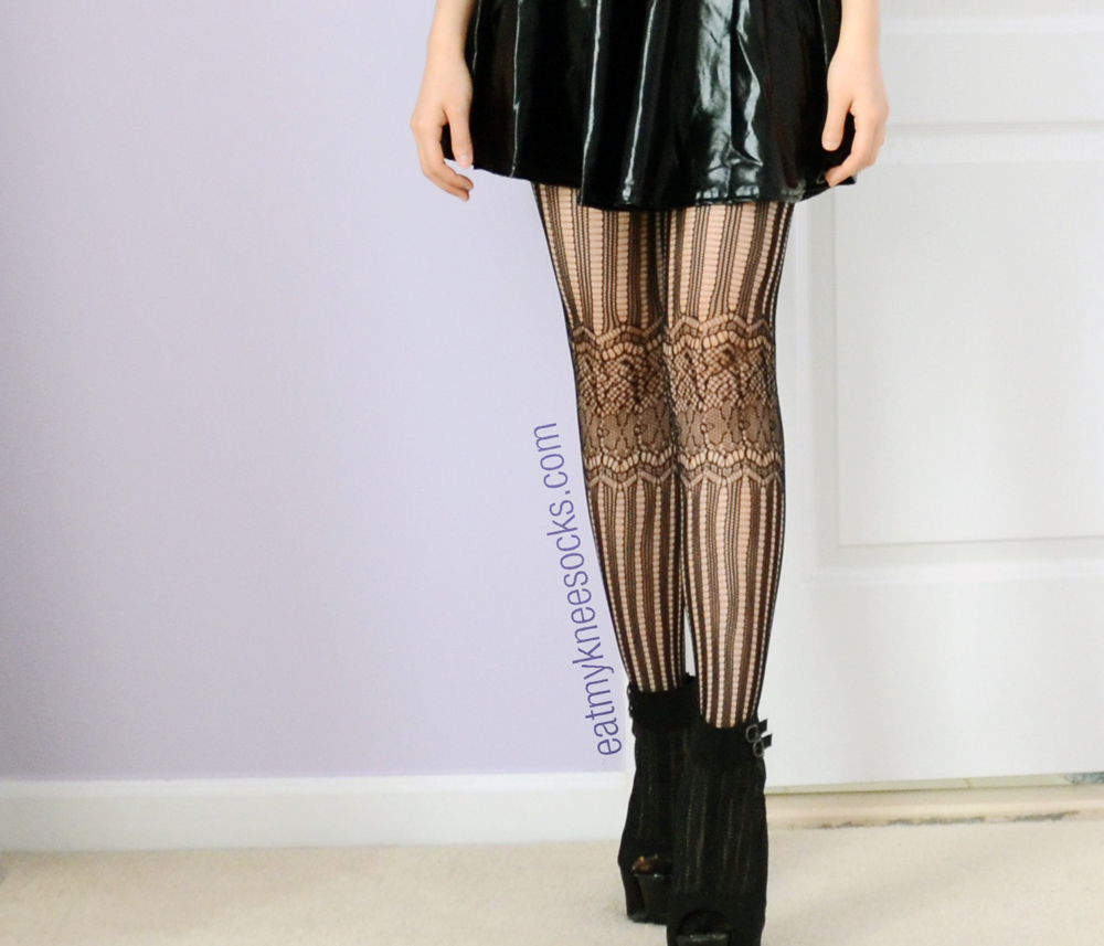 These JollyChic Harajuku-esque black lace tights are great for spicing up an outfit.