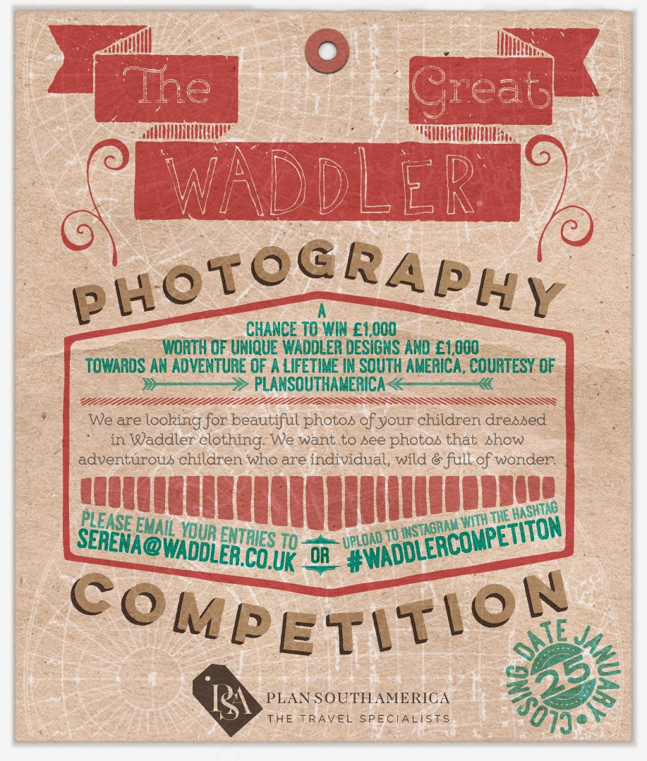 Waddler competition - Win 2x1000 pounds for kids clothes and adventures!