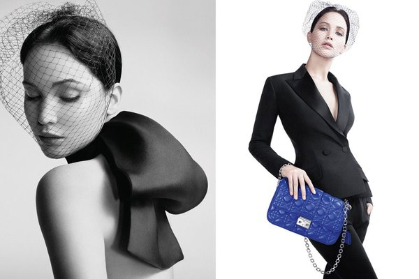 Jennifer Lawrence for Miss Dior bags 2013