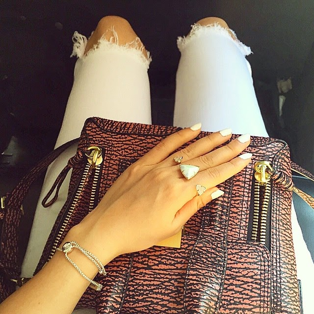 kendra scott racel double ring, 31phillip lim bag, ripped jeans, cab selfie, from where i sit, nyc, fashion blog, ASOS ripped jeans