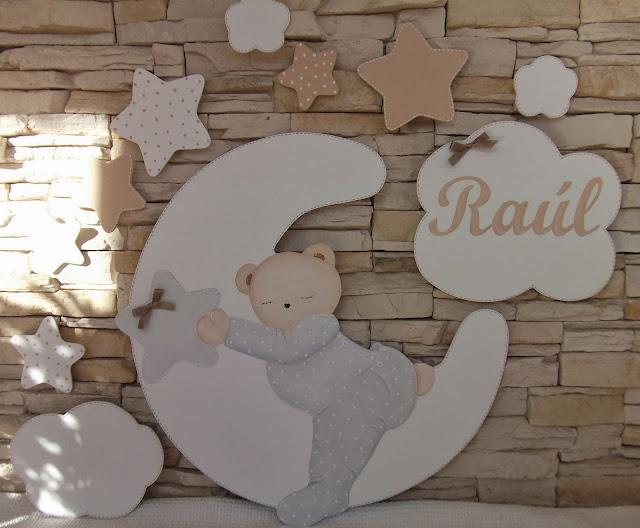 Decoraci n infantil pekerines siluetas de madera para for Decoracion habitacion bebe goma eva