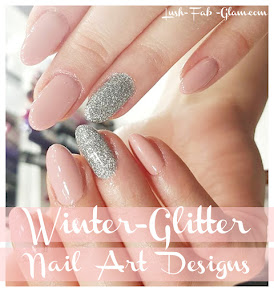 Winter Nail Art: Glam up your winter manicure with glitter.