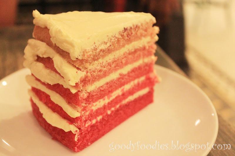Ombre Red Velvet Cake