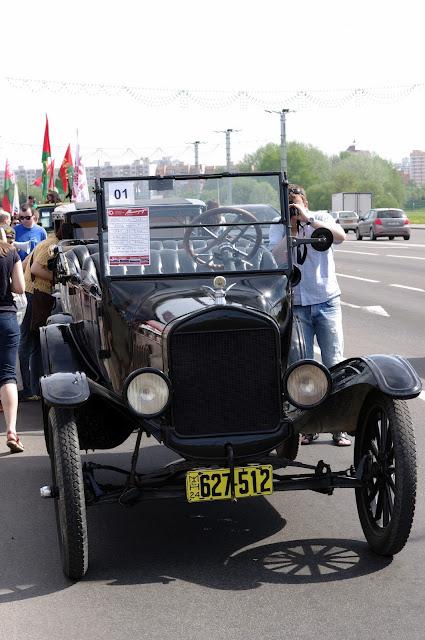 Выставка старинных автомобилей в Минске.