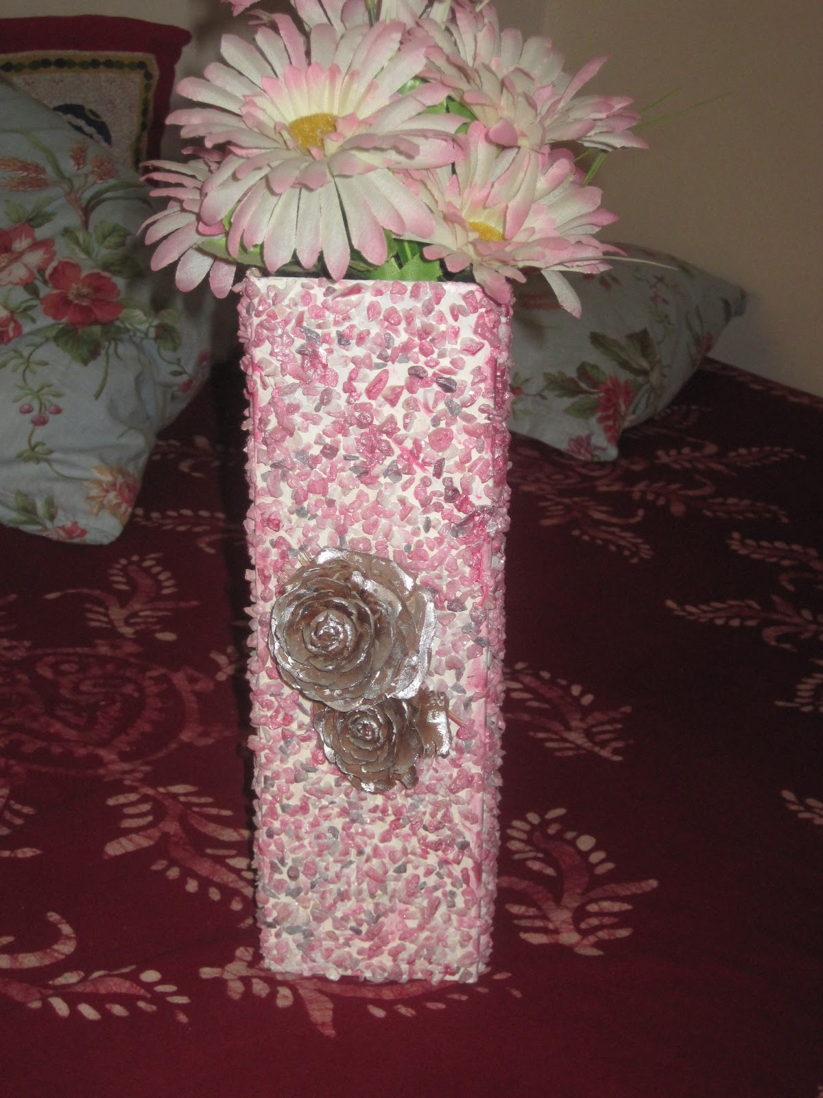 Swati galaxy for Flower pot out of waste material