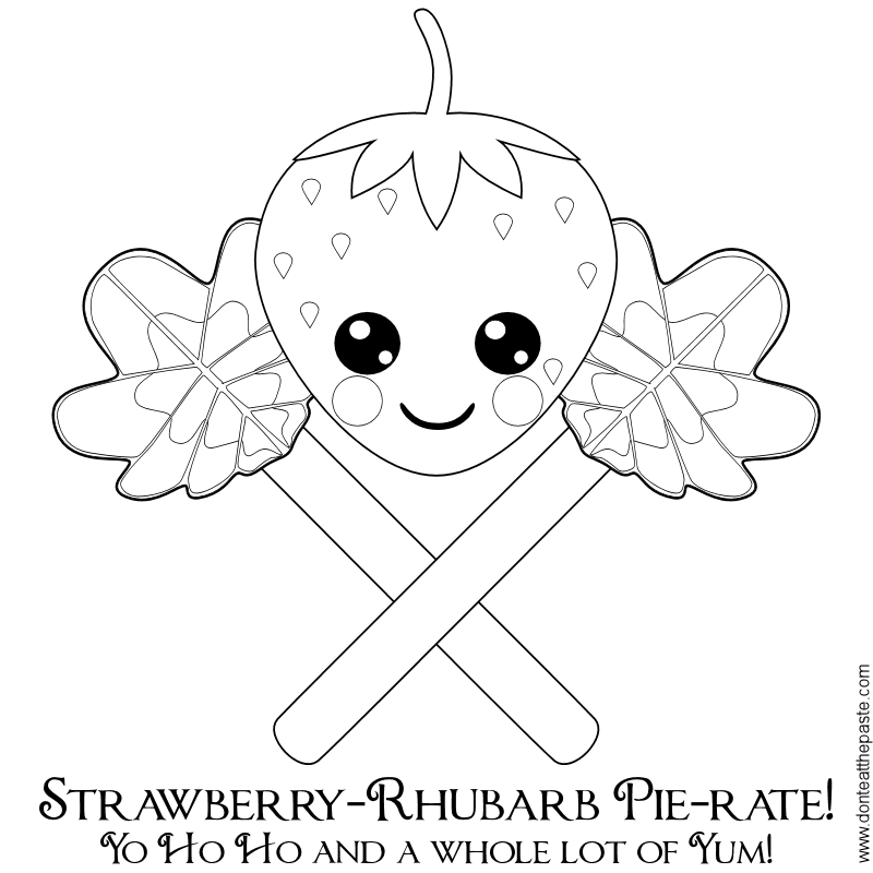 rhubarb coloring pages - photo#3