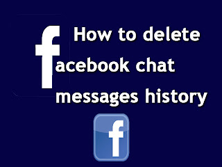 Delete facebook chat messages history