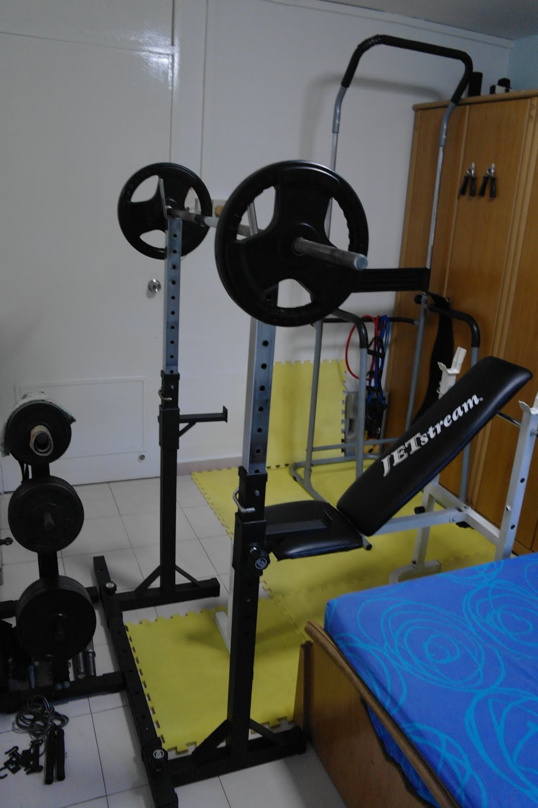 Singapore home gym my arrangement shoulders workout