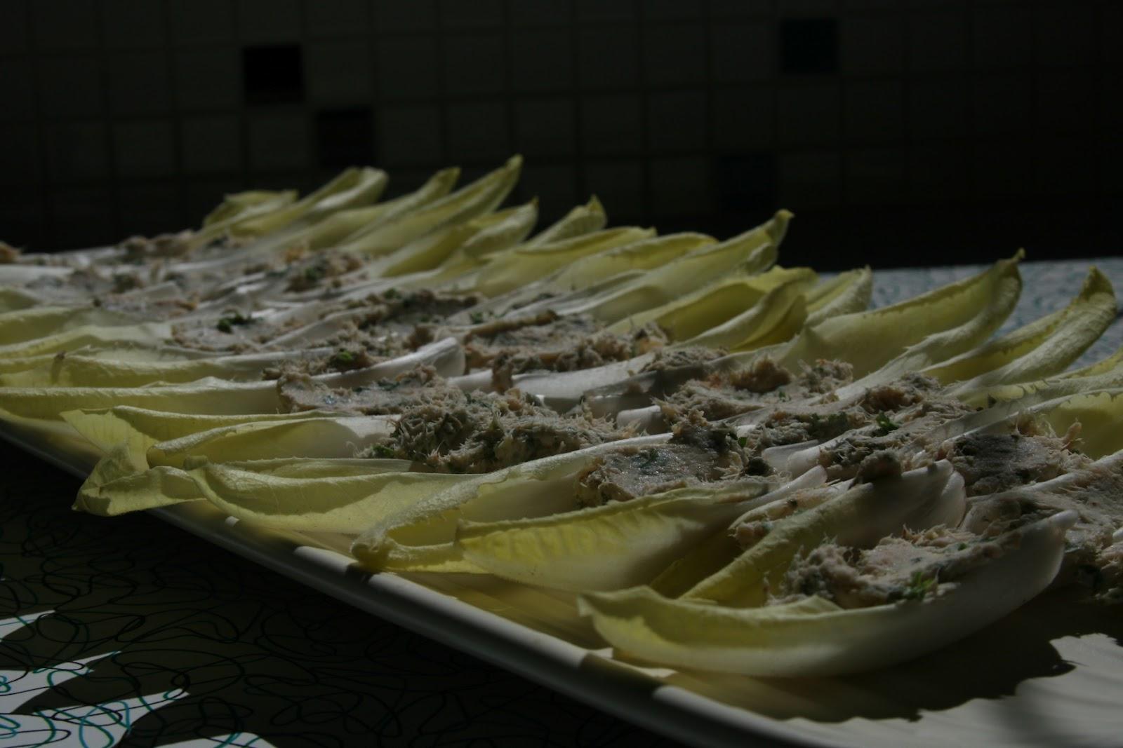 Boomerang Kitchen: Tuna Caper Spread on Endive