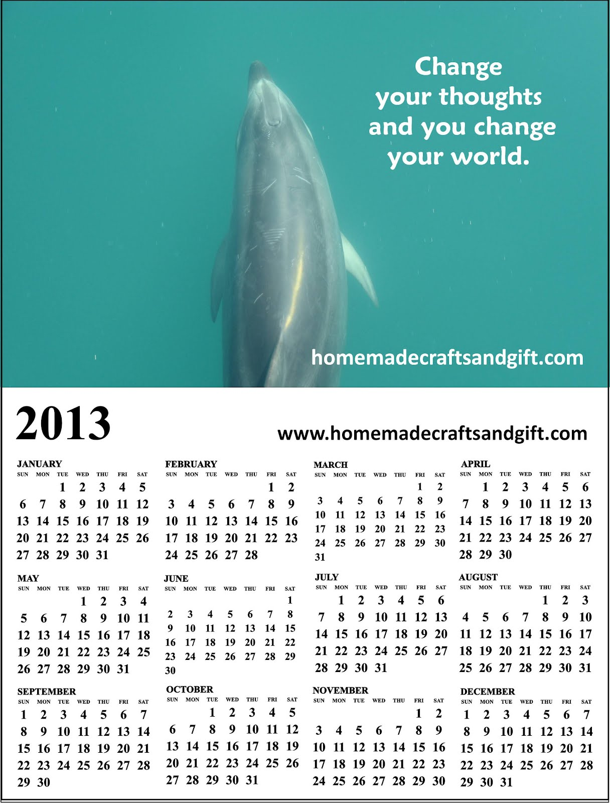 Free 2014 Calendars, Bookmarks, Cards