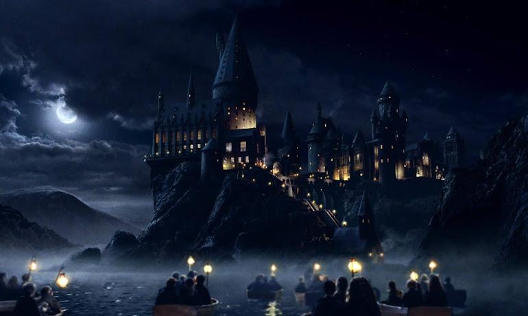 Harry Potter arriving at Hogwarts