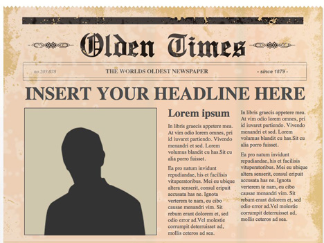 PowerPoint Templates lets you choose from a range of newspaper    Old Newspaper Front Page