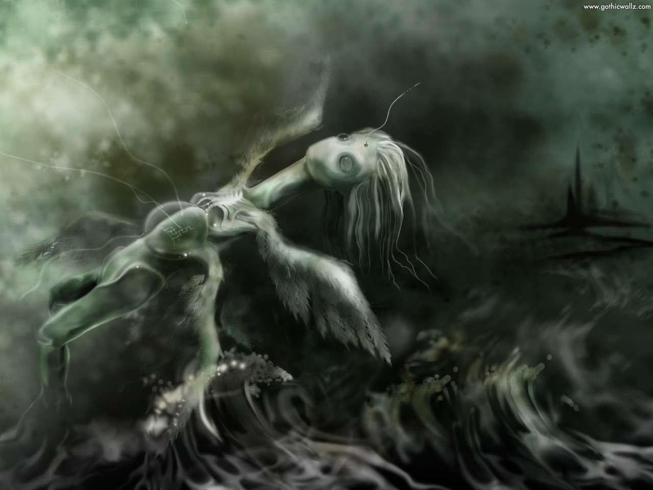 Dark Angel Doll Fly   Dark Gothic Wallpaper Download