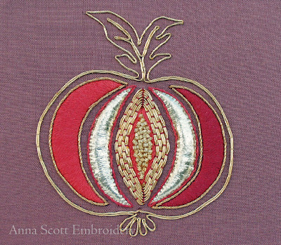 """Apple Glory"" Goldwork kit by Anna Scott"