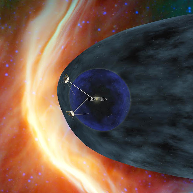NASA's Voyager 1 and 2 spacecrafts exploring the Heliosheath