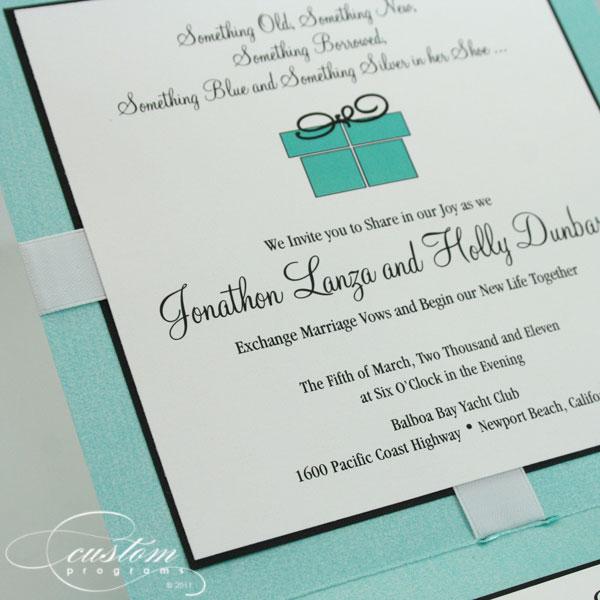 Featured Tiffany Blue Invitation Newport Beach Wedding Invitation