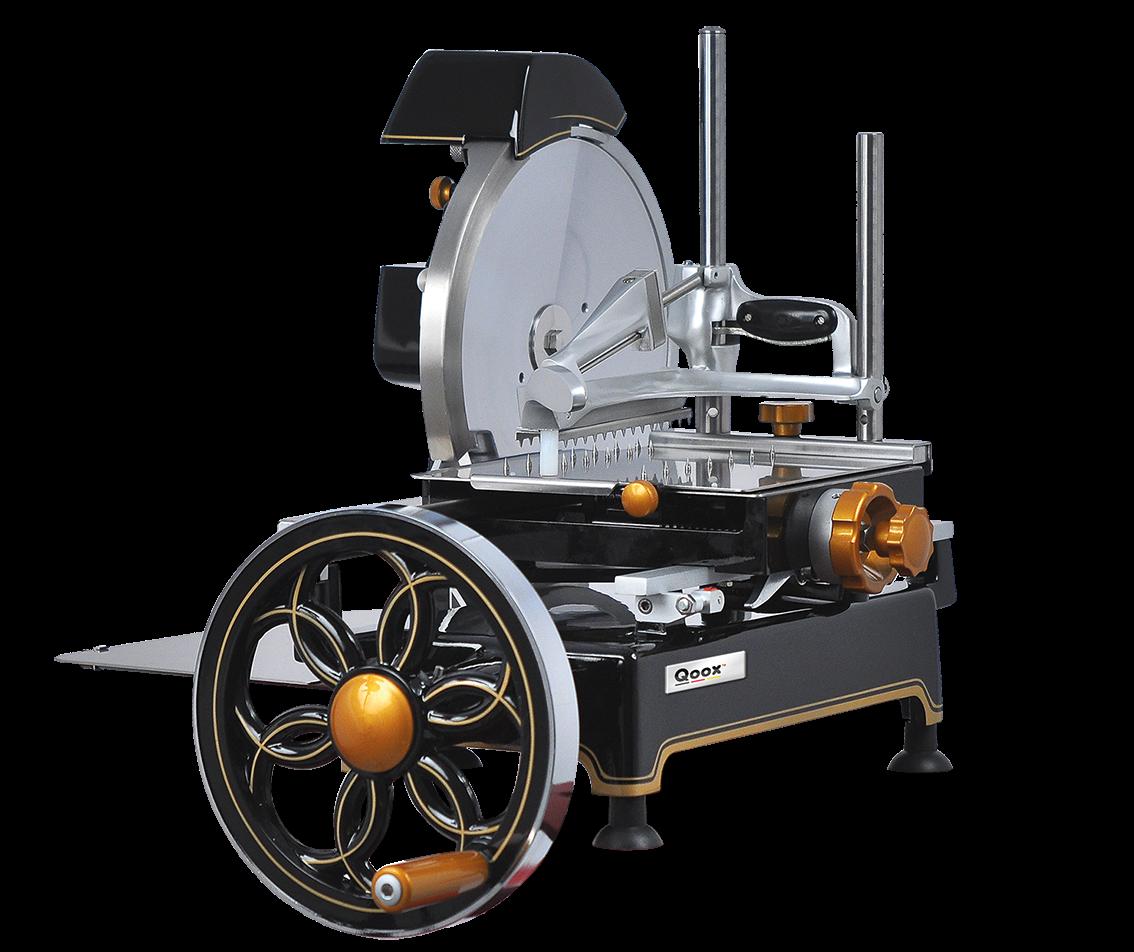 foodtechnik aufschnittmaschine mechanisch handantrieb mit. Black Bedroom Furniture Sets. Home Design Ideas
