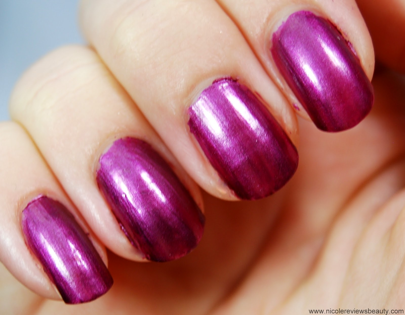 Sally Hansen Magnetic Nail Color in Red-y Response Review and Swatches