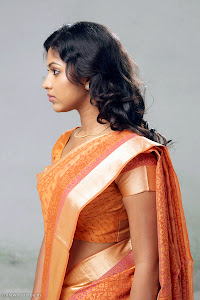 Amala Paul latest new cute looking tradition saree photos unseen pics