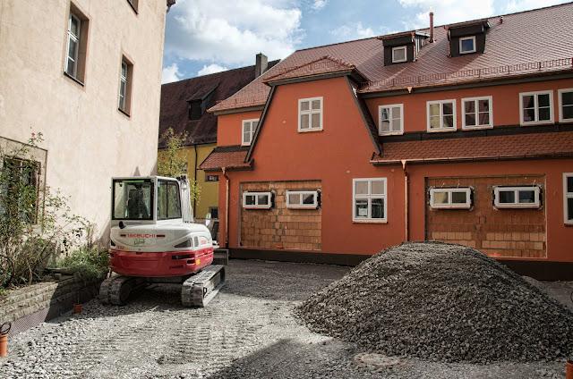 Baustelle Wohnhaus Neubau, Parkplatz, Schrannengasse 1, 91550 Dinkelsbühl, 26.09.2014