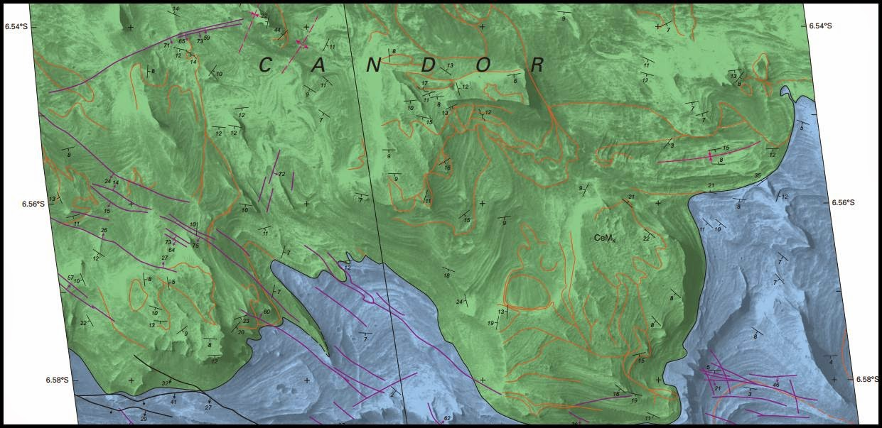 Sample of the USGS high-resolution geologic map of Mars. Credit: USGS