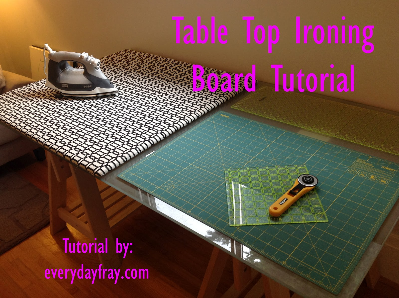 Simple Table Top Ironing Board Tutorial