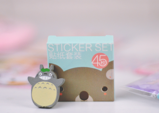 Japanese Totoro brooch and koala stickers