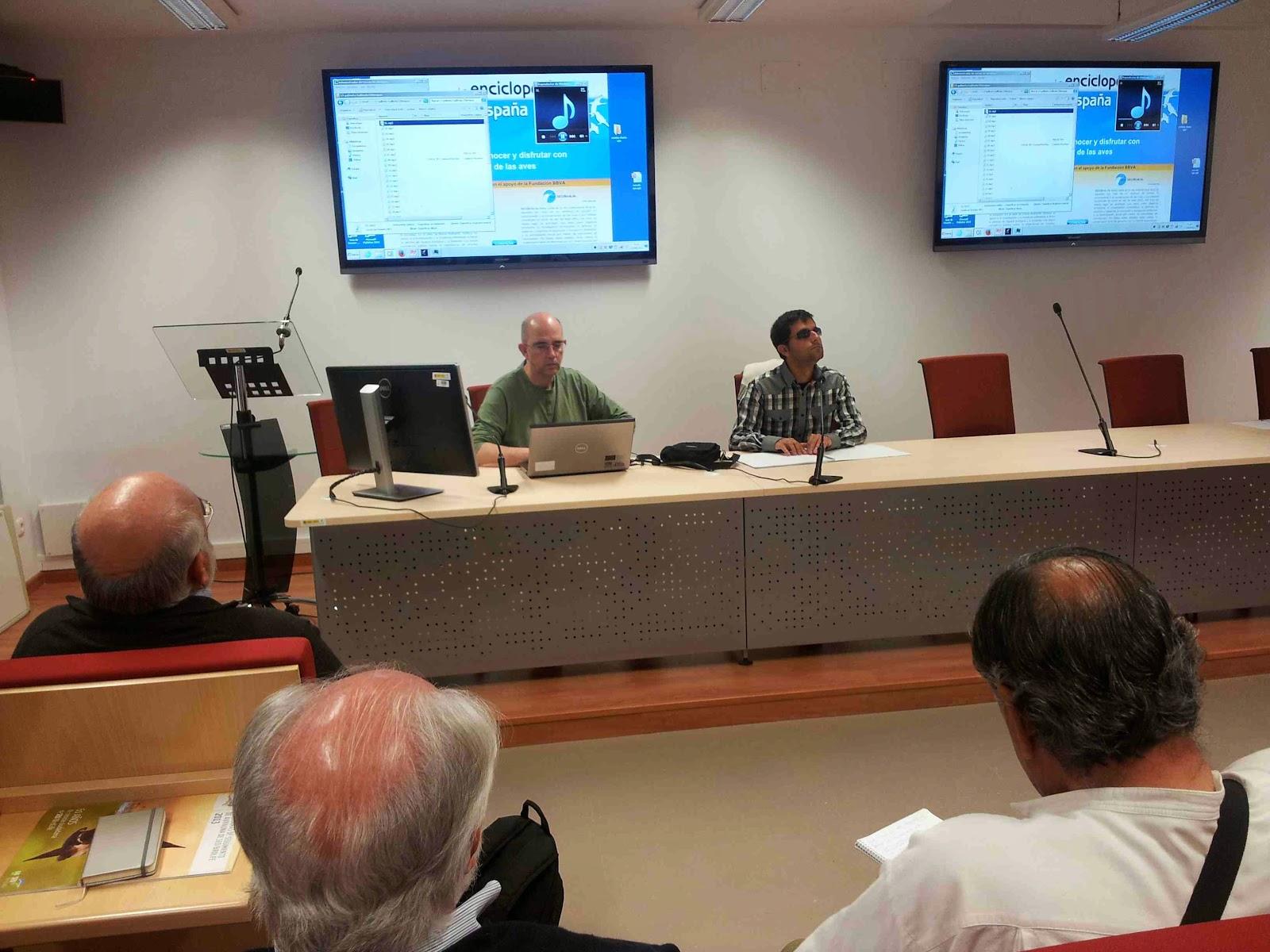 Curso sobre identificación de cantos de aves, 17 de abril de 2015. Organiza SEO/BirdLife en la Universidad Pablo de Olavide.
