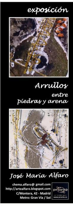 """próxima exposición """"Arrullos entre piedras y arena"""""""