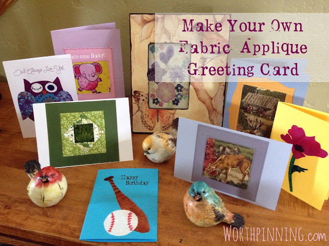 Handmade Fabric Appliqué Greeting Cards