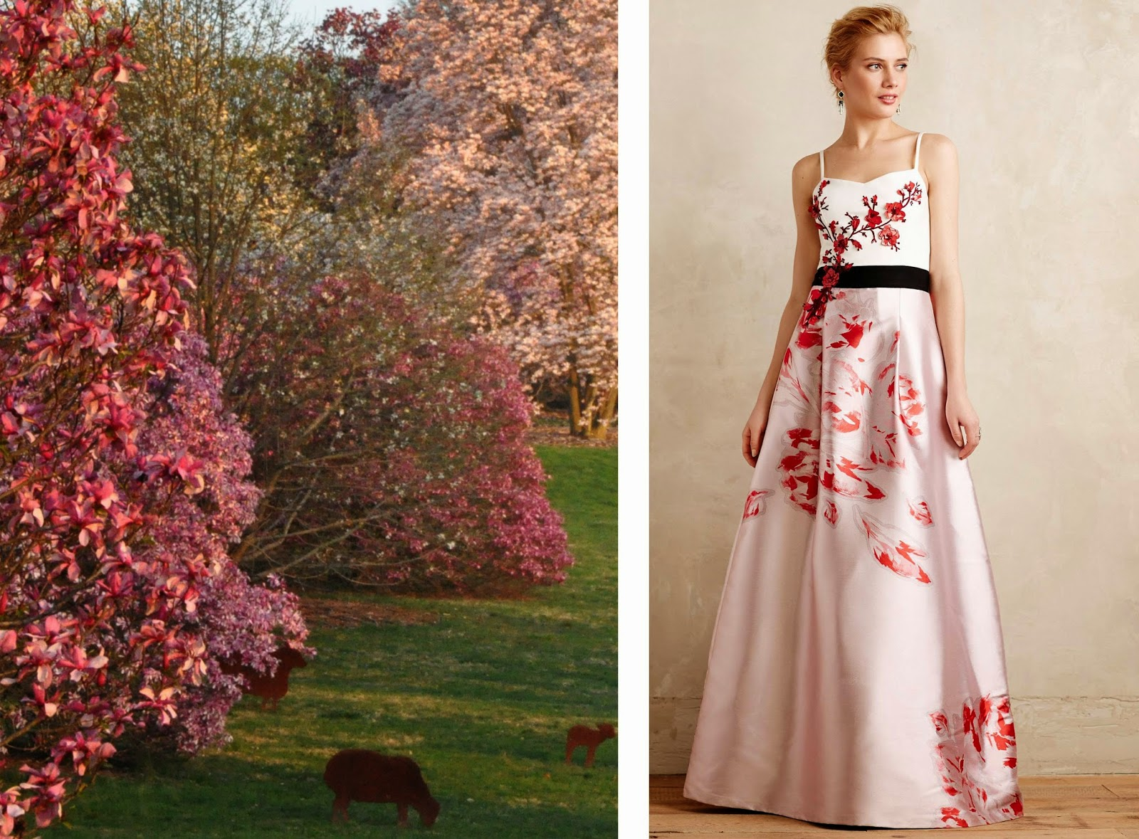 Morris Arboretum: Natural Fashionista: Gowns Inspired by Spring Blooms