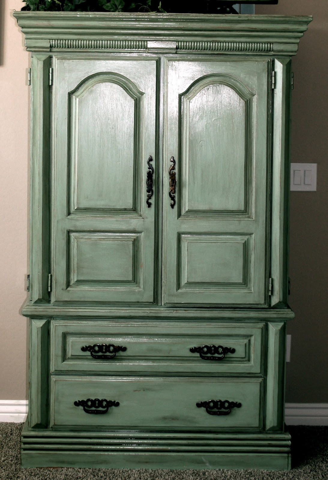 little bit of paint repurposed armoire update. Black Bedroom Furniture Sets. Home Design Ideas