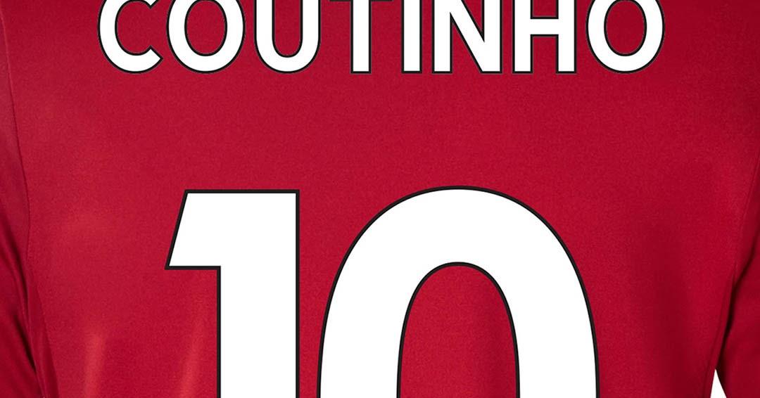 Premier League Font On The Liverpool   Kit Footy Headlines