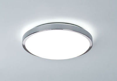 The AX0587 Denia Round Ceiling Light in polished chrome - Astro 0587 Denia Flush