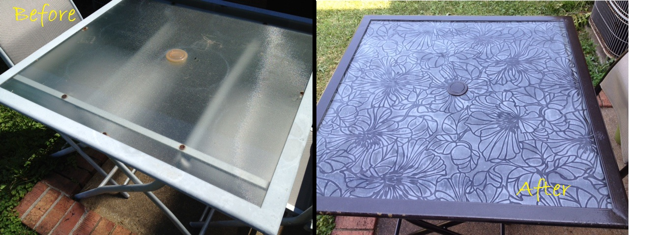 Decoupage Glass Tabletop