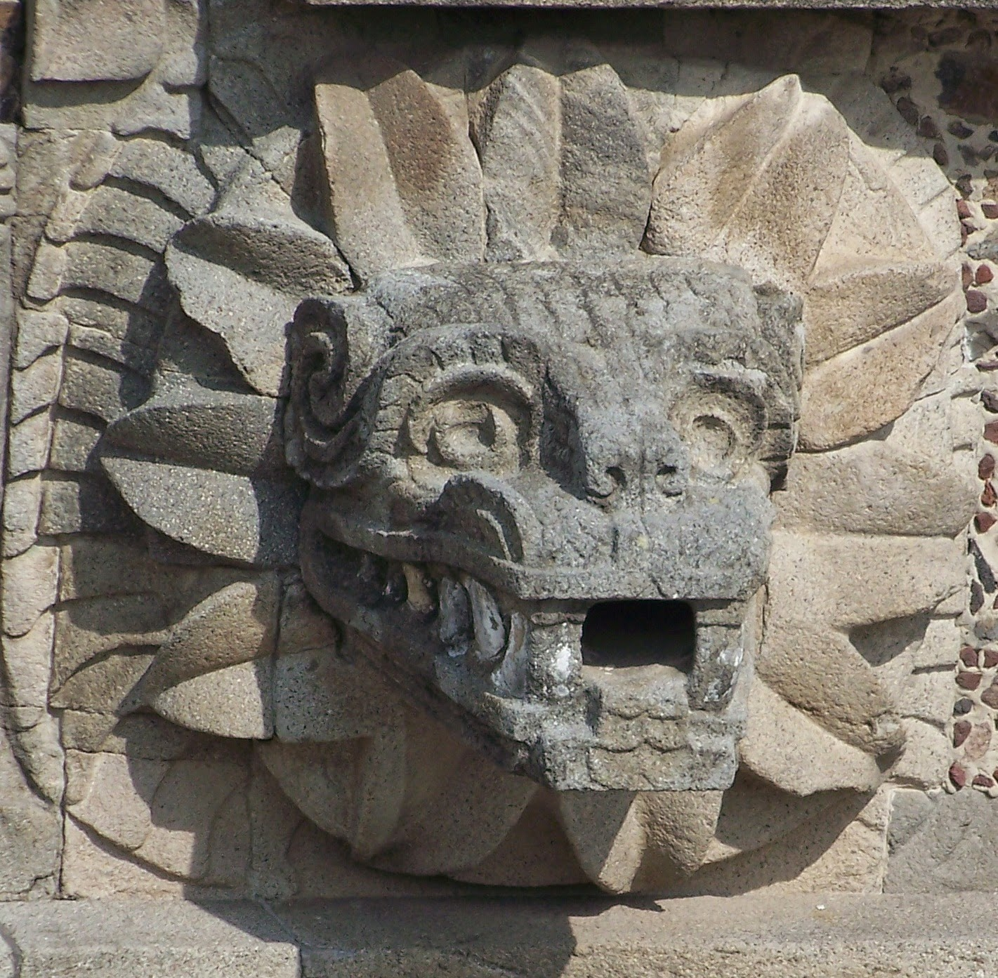 Temple of Quetzalcoatl, Teotihuacan, Feathered Serpent.