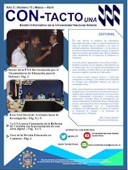 Boletín Institucional Con-Tacto UNA N°. 13 Marzo - Abril