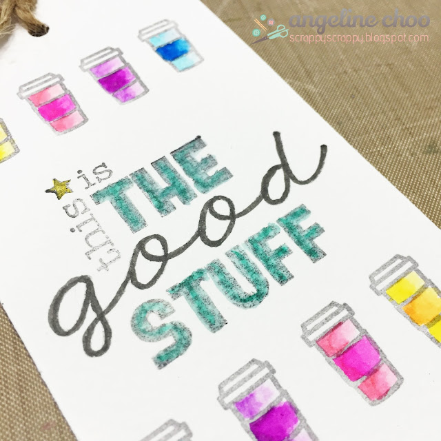 ScrappyScrappy: The good stuff #scrappyscrappy #unitystampco #sweetstampshop #zigcleancolor #cleancolorrealbrush #stamp #tag #coffee