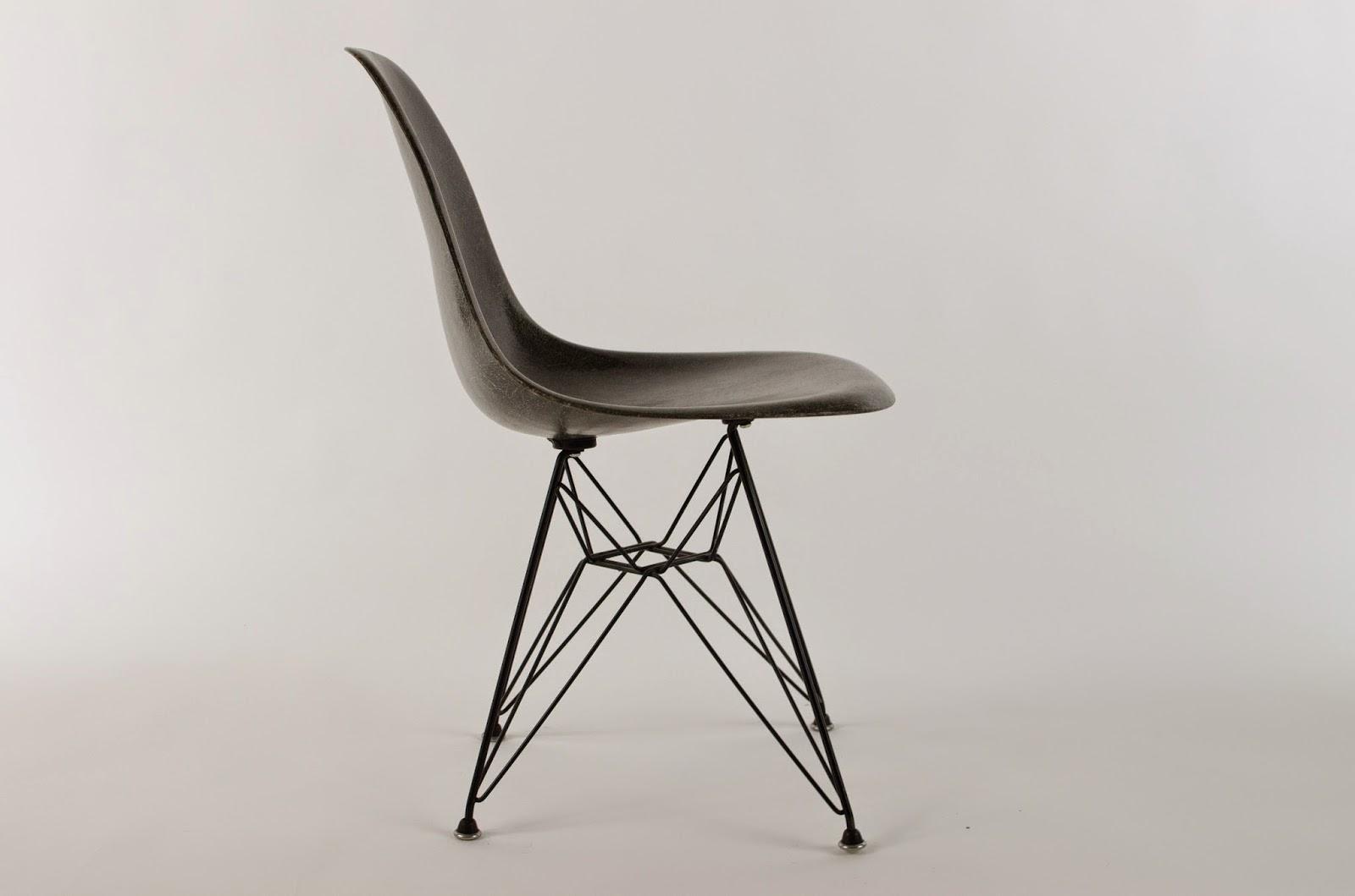 Charles amp ray eames eames dsw side chair fiberglass replica - Rare Elephant Hide Grey Fiberglass Side Chair Designed By Charles Ray Eames For Herman Miller C